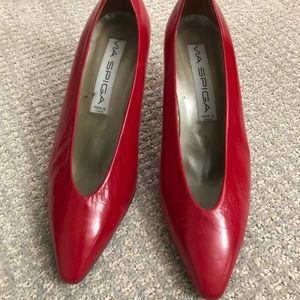 1980's Vintage Via Spiga Red Heels